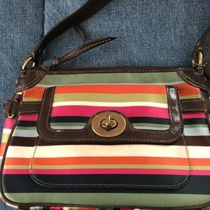 Coach stripped Purse only